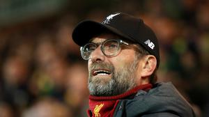 Jurgen Klopp expects to see a reaction from his Liverpool players after their defeat in Madrid (Adam Davy/PA)