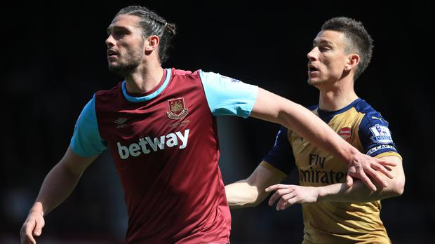 Andy Carroll proved too hot for Arsenal to handle