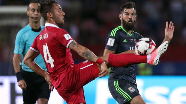Joe Ledley, right, admits he could move abroad this summer after being released by Crystal Palace.