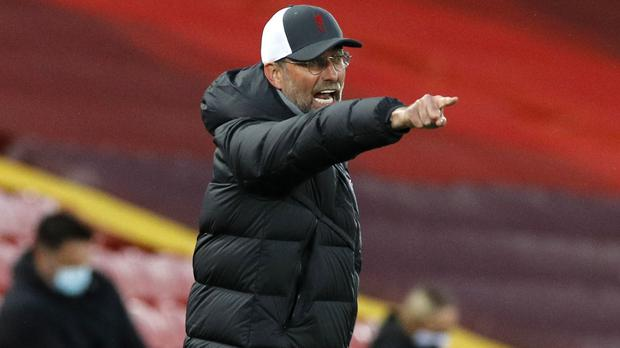 Liverpool manager Jurgen Klopp has the top four in his sights (Phil Noble/PA)