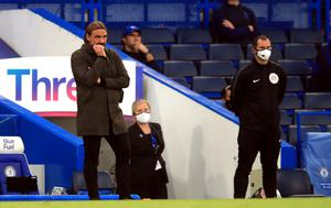Norwich manager Daniel Farke, left, hailed his side's professionalism despite confirmation of their relegation (Adam Davy/NMC Pool)