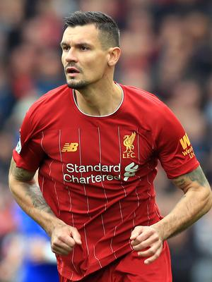 Liverpool's Dejan Lovren looked well short of his best against Shrewsbury (Peter Byrne/PA)