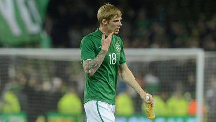Andy Keogh is pictured during his Ireland days