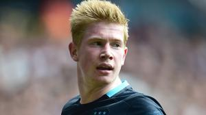 Kevin de Bruyne moved to Manchester City for 75 million euros