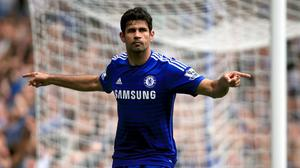 Diego Costa continued his fine goalscoring run by netting Chelsea's second against Villa