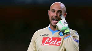 Brendan Rodgers does not expect Pepe Reina, pictured, to return to Liverpool