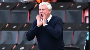 Newcastle head coach Steve Bruce will not allow Newcastle to coast to the end of the season (Glyn Kirk/NMC Pool/PA)