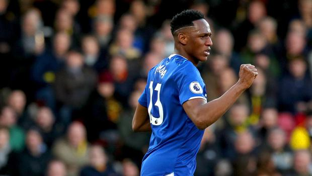 Yerry Mina's goals helped Everton come from behind to beat Watford (Jonathan Brady/PA)