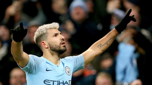Sergio Aguero could return as Manchester City resume their pursuit of Liverpool on Monday (Richard Sellers/PA)
