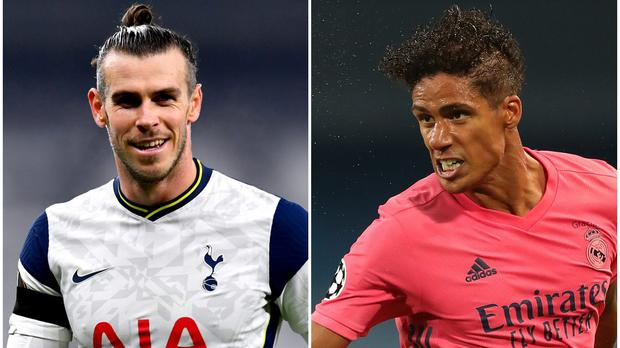 Gareth Bale (left) and Raphael Varane figure in Wednesday's football rumour mill ( Dylan Martinez/Nick Potts/PA)