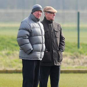 Sir Bobby Charlton, right, was one of the United directors who appointed Sir Alex Ferguson in 1987