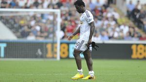 Wilfried Bony was sent off during the first half