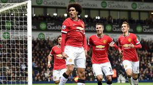Marouane Fellaini scored just three minutes after coming off the bench against West Brom