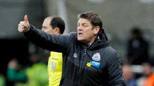 Newcastle head coach John Carver is determined to take advantage of any unrest among Everton fans