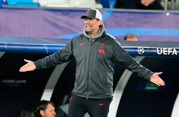 Liverpool manager Jurgen Klopp has his work cut out to mastermind a second-leg comeback and knock out Real Madrid in their Champions League clash at Anfield. Photo: PA