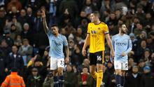 A Gabriel Jesus double helped Manchester City brush Wolves aside (Martin Rickett/PA)