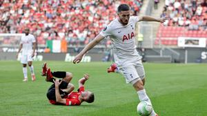 Tottenham's Matt Doherty controls the ball during the Europa Conference League Group G draw with Rennes at the Roazhon Park stadium in Rennes