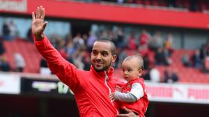 Sunday's hat-trick hero Theo Walcott is yet to agree a new contract with Arsenal