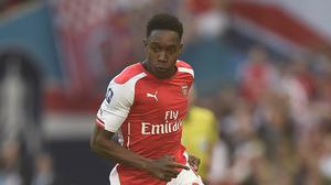 Arsenal forward Danny Welbeck is sidelined by a knee injury.