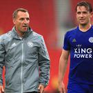 Leicester manager Brendan Rodgers, left, has been talking about Ben Chilwell, right, and Hamza Choudhury (Mike Egerton/PA)