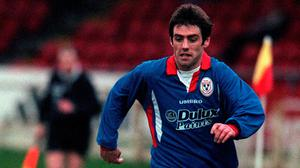 Homeward bound: Tony Sheridan returned to play for Shelbourne in 1995 after a spell in England with Coventry City