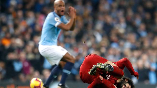 Vincent Kompany thought his challenge was acceptable (Martin Rickett/PA)