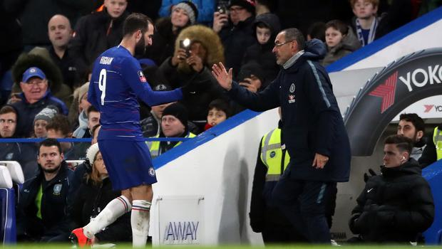 Chelsea head coach Maurizio Sarri is set to start with Gonzalo Higuain against Bournemouth (Nick Potts/PA)