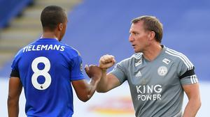 Leicester could face a battle to hang onto a Champions League place (Michael Regan/NMC Pool)