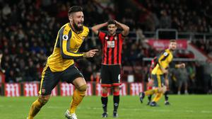Olivier Giroud headed a stoppage-time equaliser for Arsenal