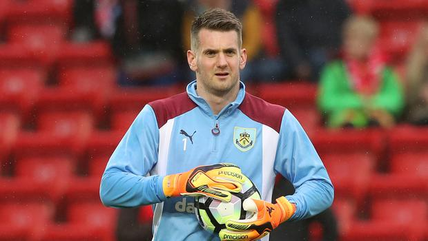 Burnley pair Tom Heaton, pictured, and Michael Keane have been called up by England