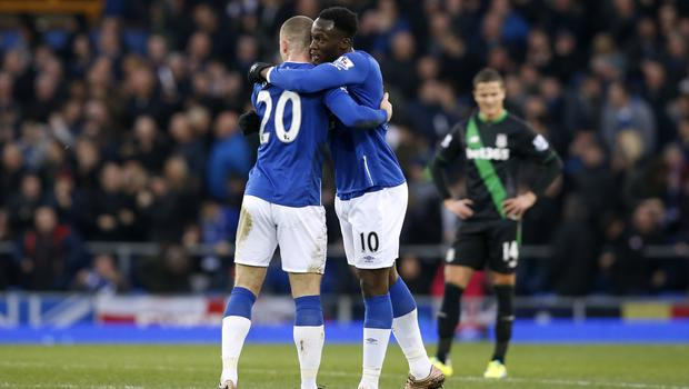 Romelu Lukaku, right, and Ross Barkley, left, are reportedly wanted by Chelsea