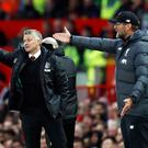 Manchester United manager Ole Gunnar Solskjaer (left) will be hoping to end the winning streak of Liverpool counterpart Jurgen Klopp (Martin Rickett/PA)
