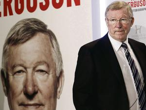Former Manchester United manager Alex Ferguson arrives for a news conference for his new autobiography at the Institute of Directors in London