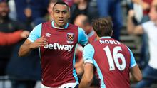 Dimitri Payet, left, wants to leave West Ham