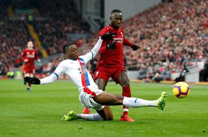 Aaron Wan-Bissaka, left, impressed for Crystal Palace last season (Darren Staples/PA)