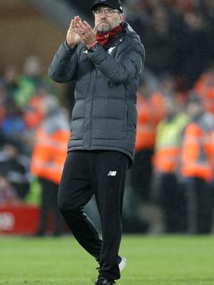 Jurgen Klopp had another good day (Peter Byrne/PA)