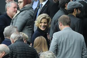 Businesswoman Amanda Staveley, centre, is spearheading the takeover of Newcastle (Owen Humphreys/PA)