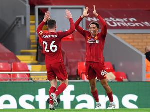 Liverpool's full-backs Andy Robertson and Trent Alexander-Arnold have been a key creative force in previous seasons (Laurence Griffiths/PA)