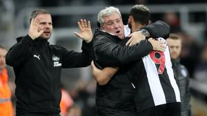 Steve Bruce is keen to stay on as Newcastle's head coach after any takeover (Owen Humphreys/PA)