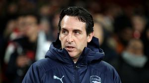 Arsenal boss Unai Emery would be content with up to two signings – or none at all – before the transfer deadline (Adam Davy/PA)