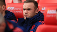 Manchester United's Wayne Rooney on the substitutes bench before the Barclays Premier League match at the Britannia Stadium, Stoke.