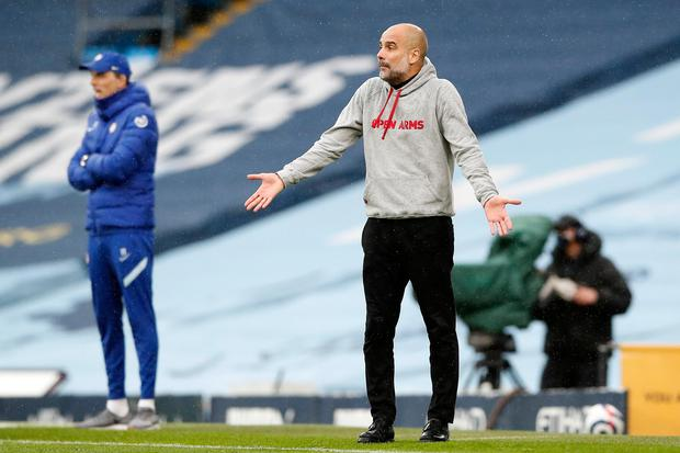 Manchester City manager Pep Guardiola. Photo: Getty