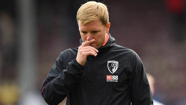 Eddie Howe's Bournemouth have never won at Goodison Park (Anthony Devlin/PA)