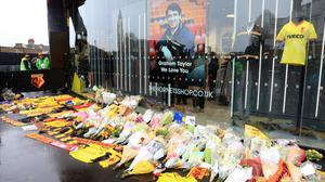Watford paid tribute to former manager Graham Taylor, who died on Thursday