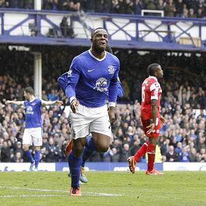 Everton's Victor Anichebe has been in good form in front of goal of late