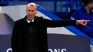 Zinedine Zidane has stepped down as Real Madrid manager with immediate effect. Photo: PA Wire