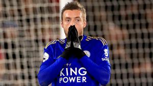 Leicester striker Jamie Vardy has scored in just one match in 2020 (Mike Egerton/PA)