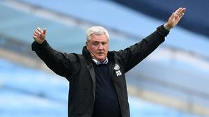 Newcastle head coach Steve Bruce witnessed a horror show at Manchester City in midweek (Michael Regan/NMC Pool/PA)