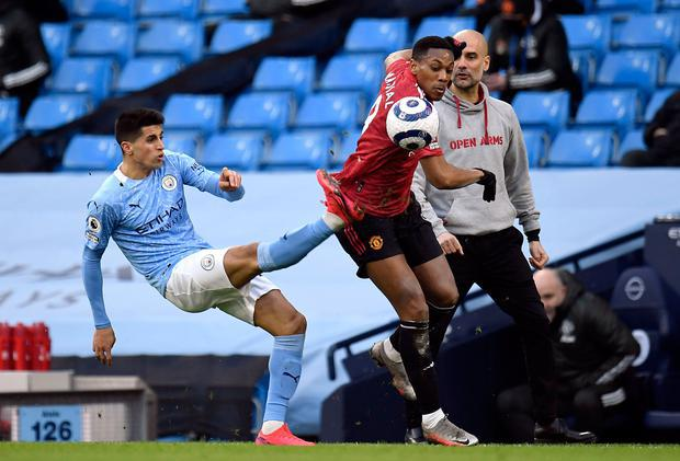 Manchester City and Manchester United are at the centre of a breakaway European Super League. Photo: Peter Powell/PA Wire