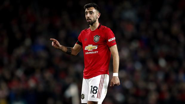Bruno Fernandes made his Manchester United debut against Wolves (Martin Rickett/PA)